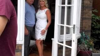 Behind the scenes photo shoot with TOWIE's Big Mark and Carol Wright