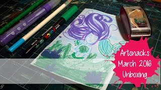 ART SUPPLY SUBSCRIPTION BOX ~ Artsnacks Unboxing ~ March 2016