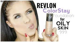 REVLON COLORSTAY FOUNDATION FOR OILY SKIN | FIRST IMPRESSION & REVIEW!
