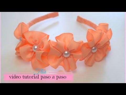 Flor de cinta para Diadema cintillos.♥ Max Q Wapa DIY