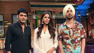 Super Singh Diljit Dosanjh & Sonam Bajwa on the set of The Kapil Sharma Show