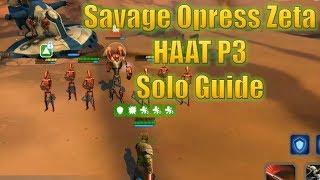 Star Wars Galaxy of Heroes: Savage Opress Zeta Phase 3 HAAT Solo Guide