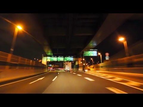 阪神高速13号東大阪線� �4号湾岸線� �関西空港 夜景ドライブ Hanshin Expressway No.4 Wangan Route Night Drive Osaka Japan