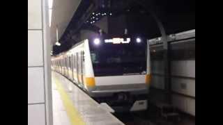 E233系(中央線)快速立川行き東京駅発車