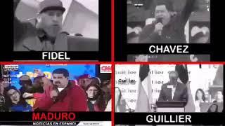 Guillier , Fidel , Maduro , Chávez  la misma cosa