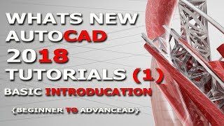Autocad tutorials 1 Basic Introducation 2018 [i khan]