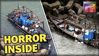Japanese in HORROR after Looking Inside N.Korean Ship that Just Washed up on their shore