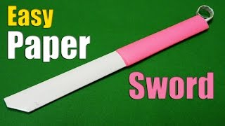 How to make an easy Paper Sword | Paper Sword | Tutorial