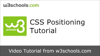 W3Schools CSS Positioning Tutorial