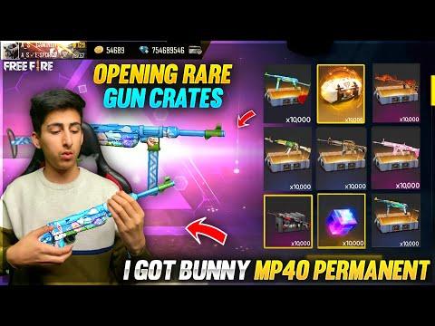 Opening Rare Gun Crates Got Bunny Mp40 😍 Top Up Prank With As Gaming 😂 Garena Free Fire