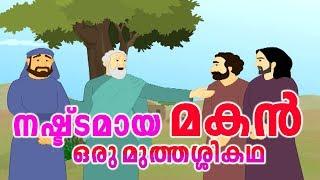 നഷ്ട്ടമായ മകൻ മുത്തശ്ശി കഥ # Nashttamaya Makan Malayalam Story For Children # Animation Stories
