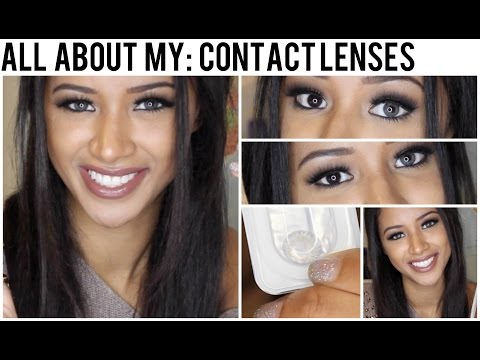 All About My: Contact Lenses! • Grey Freshlook Colorblends on Brown Eyes •