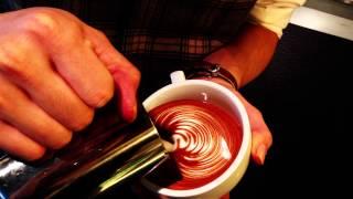 Today's Latte art(Fine line Rosetta)2012/12/10