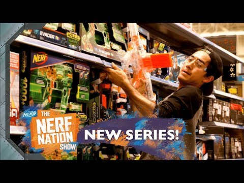 NERF FEST Blaster Battle Walmart 🛒 w Zach King & Dom Fera The NERF Nation Show Episode 5