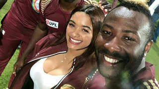 Andre Russell with hot wife Jassym Lora | West indies Cricket | Big Bash League BBL Cricket 2017