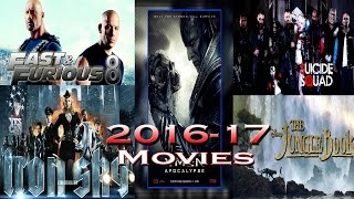 2016 - 17 || Up Coming Hollywood Movies List ||