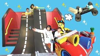 レゴレース レゴランド名古屋 ビルド&テスト レゴブロックを使って車を作ったよ お出かけ こうくんねみちゃん