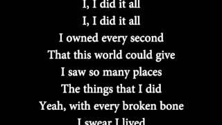OneRepublic - I Lived lyrics