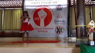 "Doa Anak Negeri (Meisya) Lomba Menyanyi Lagu Bertema ""Cinta Tanah Air"" @Wr Mina Renon 28-10-16"
