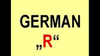 How to pronounce the german