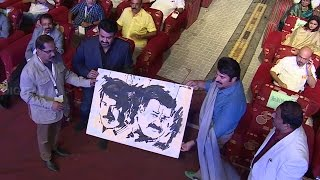 Mammootty Mohanlal Stage Show | Vaikom Vijayalakshmi Singing Songs Malayalam Film Award 2015