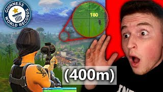 LONGEST SNIPE IN THE HISTORY OF FORTNITE! (Unbelievable)