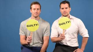 """Henry Cavill & Armie Hammer Play A Game Of """"Never Have I Ever"""""""