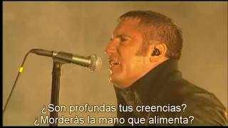 Nine Inch Nails   The Hand That Feeds live subtitulada