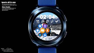 """Watch Face """"Sports All In One"""" for Samsung Gear Sport, S3, S2."""