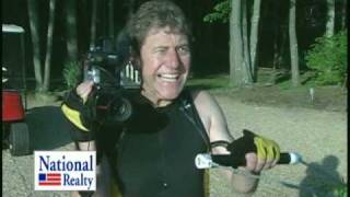 Waterski with a video camera to film homes for sale
