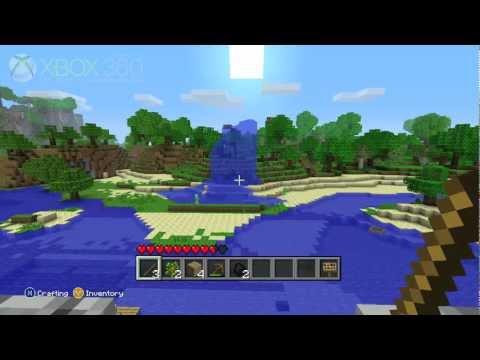 Minecraft Xbox 360 gameplay - OXM Land - Day 1