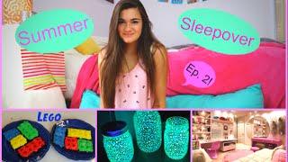 summer sleepover ep 2  my period diy glow jars  lego brownies