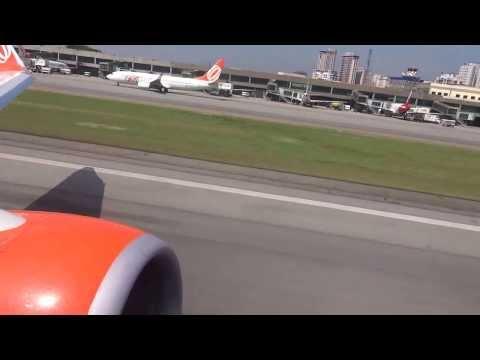 Boeing 737 800 GOL Decolagem Congonhas 35L SBSP FullHD