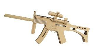 How To Make Cardboard Gun | Amazing MP5 That Shoots