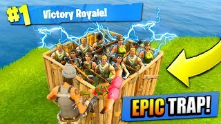 EPIC 50 vs 50 TRAP in Fortnite: Battle Royale!