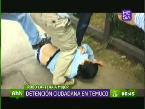 Golpean a ladrón en Temuco