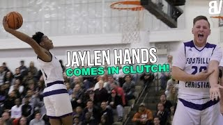 Jaylen Hands ICES Game With Nasty Turnaround! | Foothills Christian VS Santa Fe Christian HIGHLIGHTS