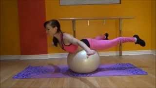 70+ exercises with fitball. From easy to hardest.