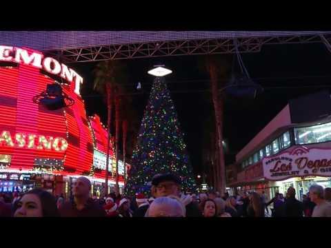Christmas on Fremont Street, Las Vegas, USA - Unravel Travel TV