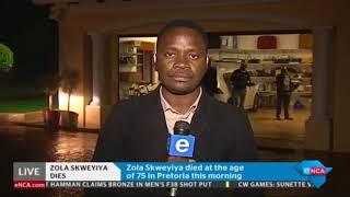 eNCA's Khayelihle Khumalo provides more on Zola Skweyiya death