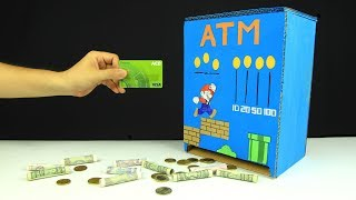 How to make ATM Piggy Bank with measurements - Just5mins #5