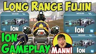 War Robots New Ion (Medium Zeus) Fujin Sniper Gameplay - WR