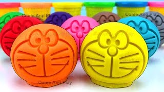 Learn Colors with Play Doh Doraemon and Surprise Toys
