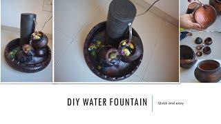 HOW TO MAKE EASY WATER FOUNTAIN AT HOME | DIY | EASY AND QUICK | INDIAN HOME