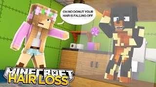 Minecraft TRANSFORMED - DONUT LOSES HIS HAIR w/ little kelly
