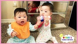 Twin Babies Fun Playtime with Ryan