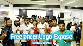 Freelancer logo expose 2017 with Designer Buzz (Flashmob Winner)