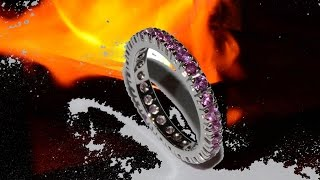 As I make an eternity ring gold 18 kt and pink sapphires