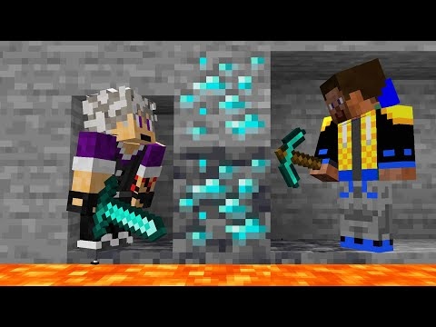Racing my friend for EVERY Minecraft ORE