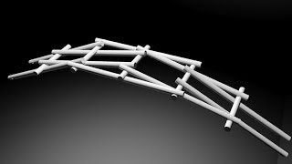 Leonardo da Vinci's Self Supporting Bridge
